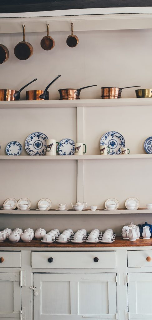 storing kitchen pots and pans