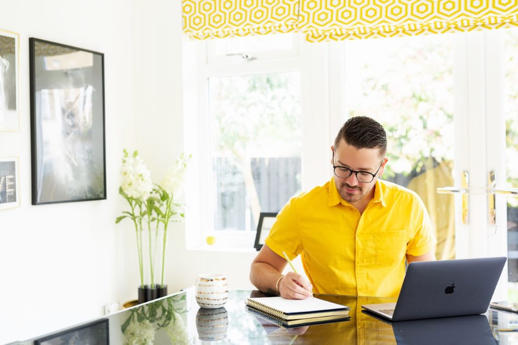 setting up a home work space
