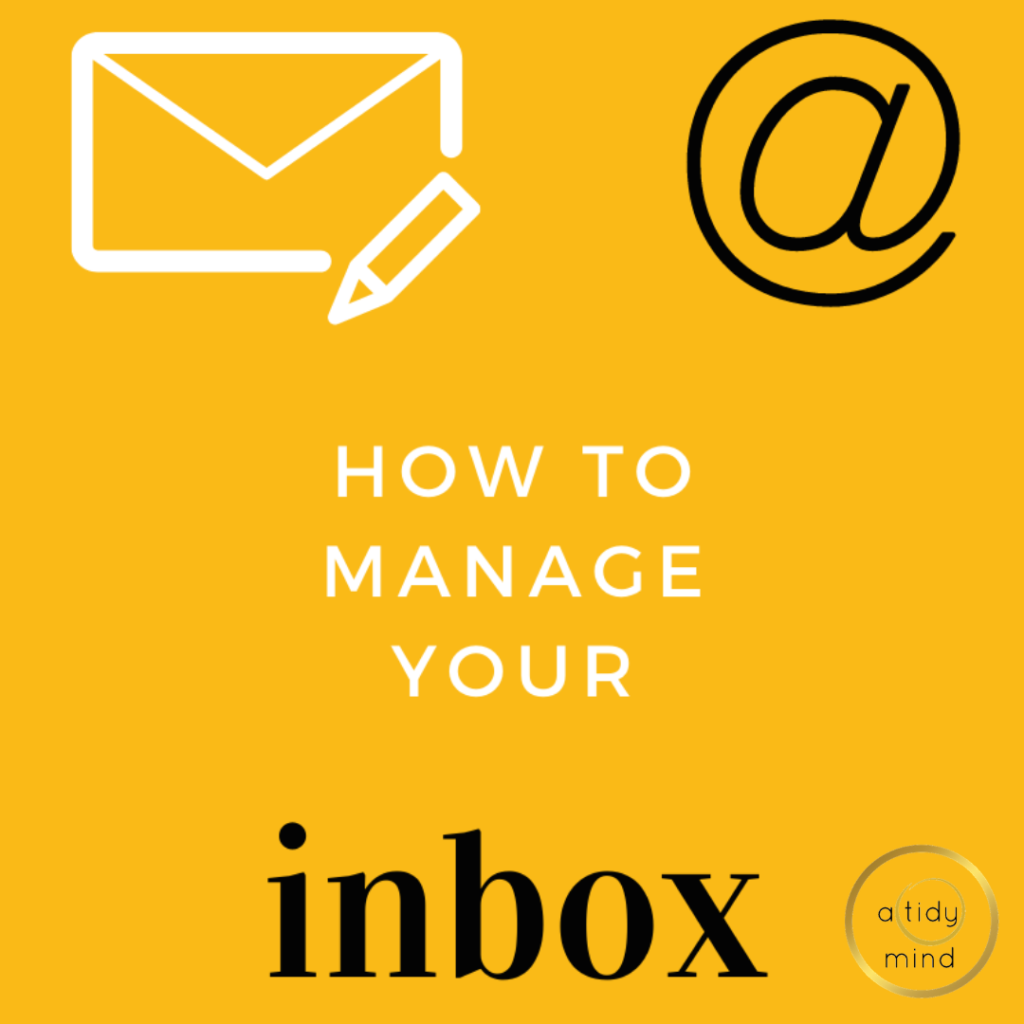 how to organise your emails